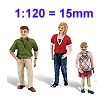1:120 - 15mm Modellfiguren