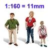 1:160 - Spur N - 11mm Figuren
