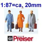 Preiser Figuren 1:87 - Standardbemalung