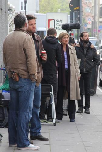Astrid Fünderich und Peter Ketnath am Set