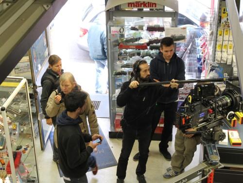 SOKO Stuttgart Dreharbeiten im Modellbahnladen