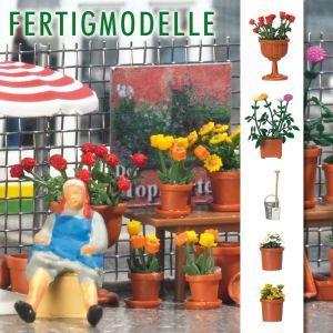 H0 Rosen, Dahlien und Margeriten im Pflanzkübel, fertig montiert - Busch  | günstig bestellen bei Modelleisenbahn Center  MCS Vertriebs GmbH