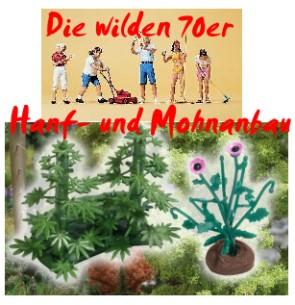 1:87 Die wilden 70er - Hanf- und Mohnanbau mit Hobbygärtnern -  | günstig bestellen bei Modelleisenbahn Center  MCS Vertriebs GmbH