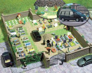 H0 Friedhof mit Steinmauer und Grabsteinen - Busch  | günstig bestellen bei Modelleisenbahn Center  MCS Vertriebs GmbH
