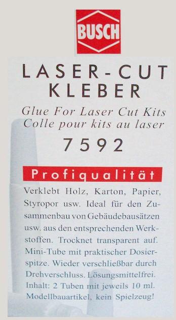 Kleber - verklebt Holz, Karton und Papier, 20g - Busch ideal für Laser-Cut-Bausätze | günstig bestellen bei Modelleisenbahn Center  MCS Vertriebs GmbH
