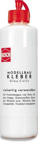 Kleber - für Holz, Papier, Pappe und Styropor - Busch  - ideal auch für Lasercut-Bausätze, 250ml | günstig bestellen bei Modelleisenbahn Center  MCS Vertriebs GmbH