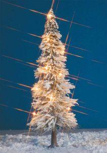 Schneetanne, H= 195mm - Weihnachtsbaum beleuchtet mit 6 Kerzenlampen - Busch  | günstig bestellen bei Modelleisenbahn Center  MCS Vertriebs GmbH