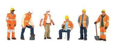 1:50 Arbeiter beim Gleis- oder Strassenbau - Bachmann  | günstig bestellen bei Modelleisenbahn Center  MCS Vertriebs GmbH