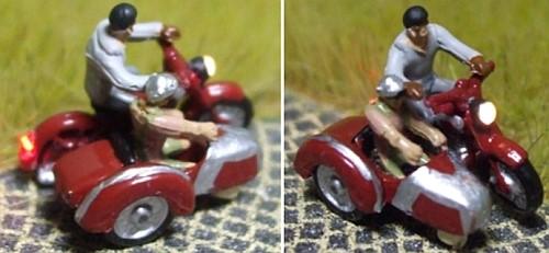 1:160 Motorrad Gespann Fahrer mit Mütze + Brille, Beifahrer in im Wagen  - Noch Figur beleuchtet by Bicyc-LED | günstig bestellen bei Modelleisenbahn Center  MCS Vertriebs GmbH