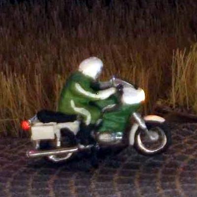 1:160 Polizei Krad - Fahrer sitzend   - Preiser Figur beleuchtet by Bicyc-LED | günstig bestellen bei Modelleisenbahn Center  MCS Vertriebs GmbH