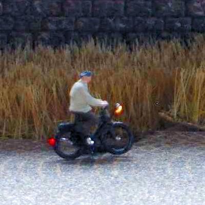1:220 Radfahrer mit Jacke + Mütze   - Preiser Figur beleuchtet by Bicyc-LED | günstig bestellen bei Modelleisenbahn Center  MCS Vertriebs GmbH