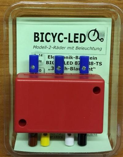 LED-Blinkelektronik für mindestens 4 Bicyc-LED Fahrzeuge   - Preiser Figur beleuchtet by Bicyc-LED | günstig bestellen bei Modelleisenbahn Center  MCS Vertriebs GmbH