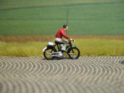 1:87 Radfahrer mit Pullover  - Preiser Figur beleuchtet by Bicyc-LED | günstig bestellen bei Modelleisenbahn Center  MCS Vertriebs GmbH