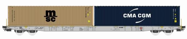 H0 Sggnss 80 VTG-AAE grau beladen mit 1 MSC und  1 CMA CGM Container - IGRA 96010011  | günstig bestellen bei Modelleisenbahn Center  MCS Vertriebs GmbH