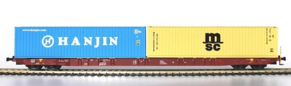 H0  Sggnss 80 Metrans braun beladen mit 1 Hanjin und 1 MSC Container - IGRA 96010012  | günstig bestellen bei Modelleisenbahn Center  MCS Vertriebs GmbH