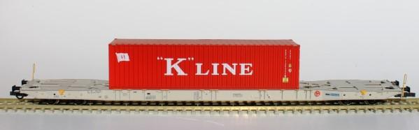 H0 Sggnss 80 boxxpresss grau + 1 K-Line Container - IGRA 96010021  | günstig bestellen bei Modelleisenbahn Center  MCS Vertriebs GmbH