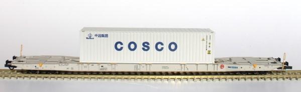 H0 Sggnss 80 boxxpresss grau + 1 COSCO Container - IGRA 96010022  | günstig bestellen bei Modelleisenbahn Center  MCS Vertriebs GmbH