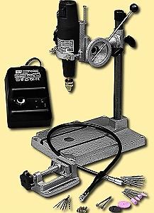 Set: Bohrmaschine Typ 3 mit Metall-Bohrständer, Flexo-Welle und Schraubstock  - Modellbauers Wunschset mit viel Zubehör | günstig bestellen bei Modelleisenbahn Center  MCS Vertriebs GmbH