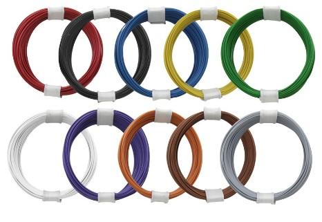 Litzen superdünn (0,04 mm²) - Set mit 10 x 10m, farbig sortiert  - ideal für Lokdecoder-Verkabelung | günstig bestellen bei Modelleisenbahn Center  MCS Vertriebs GmbH
