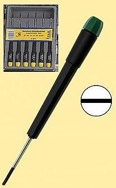 Schraubendreher-Set: 6 feine Schraubendreher für Schlitzschrauben  - ideal für Reparaturarbeiten und Modellbau  | günstig bestellen bei Modelleisenbahn Center  MCS Vertriebs GmbH