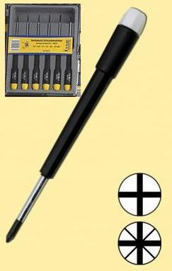 Schraubendreher-Set: 6 feine Schraubendreher für Kreuzschlitzschrauben  - ideal für Reparaturarbeiten und Modellbau  | günstig bestellen bei Modelleisenbahn Center  MCS Vertriebs GmbH