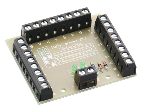 Modellbahn Verteiler Typ 1 für DC und AC - mit Kontroll-LEDs  | günstig bestellen bei Modelleisenbahn Center  MCS Vertriebs GmbH
