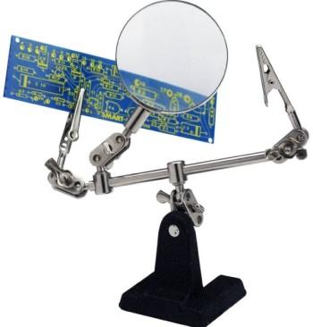 Helping Hand + Lupe mit 4 facher Vergrösserung  - mit schwerem Standfuss | günstig bestellen bei Modelleisenbahn Center  MCS Vertriebs GmbH