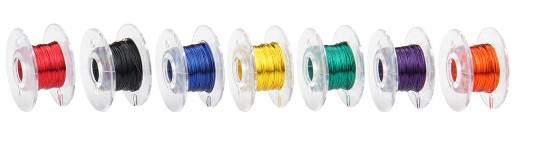 Kupferlackdraht (0,15 mm²) - Set mit 7 x 10m, farbig sortiert  - ideal für LEDs | günstig bestellen bei Modelleisenbahn Center  MCS Vertriebs GmbH