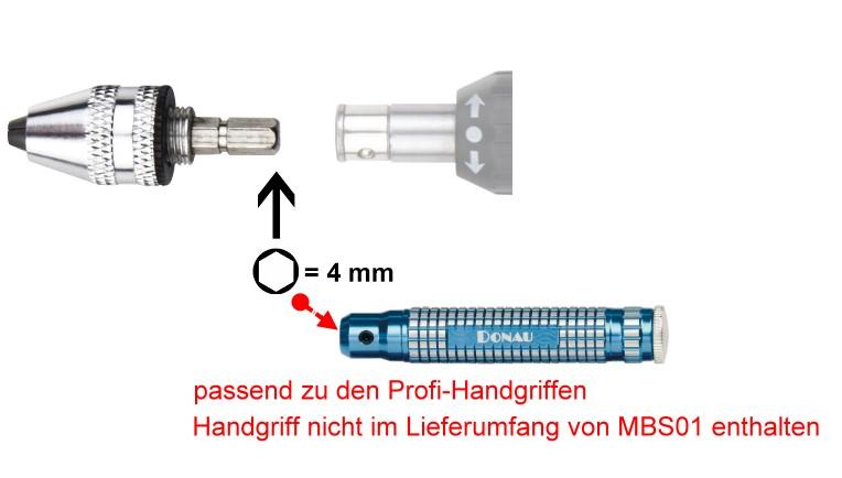 Adapter: Bohrfutter mit Schnellspannzangen für den Profi-Handgriff  | günstig bestellen bei Modelleisenbahn Center  MCS Vertriebs GmbH