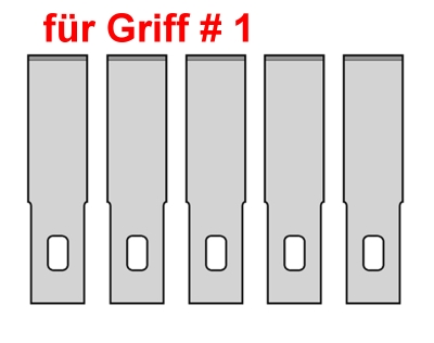 Bastelmesser: 5 Ersatzklingen für Griff #1  | günstig bestellen bei Modelleisenbahn Center  MCS Vertriebs GmbH