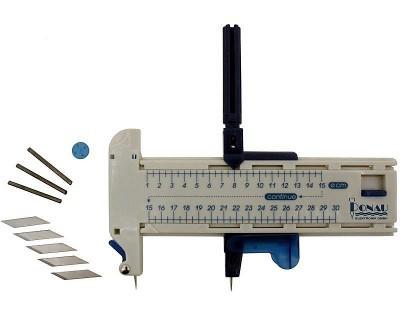 Bastelmesser: Kreisschneider - mühelos präzise Kreisausschnitte in Papier, Pappe, Leder, Plastik und Folie schneiden  | günstig bestellen bei Modelleisenbahn Center  MCS Vertriebs GmbH