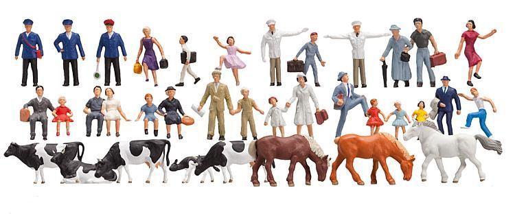 1:160 Menschen und Tiere, Großpackung mit  36 Stück - Preiser made for Faller 155253  | günstig bestellen bei Modelleisenbahn Center  MCS Vertriebs GmbH