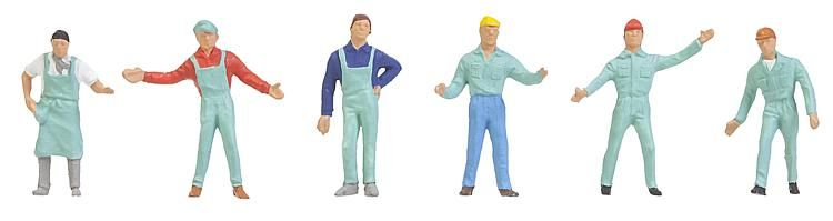 1:160 Arbeiter, teilweise mit Helm  Faller 241-155344  | günstig bestellen bei Modelleisenbahn Center  MCS Vertriebs GmbH