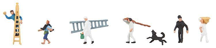 1:160 Handwerker - Preiser made for Faller 155355    günstig bestellen bei Modelleisenbahn Center  MCS Vertriebs GmbH