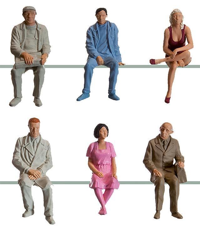 1:22,5 Sitzende Figuren, 6 Stück - Pola einfache Bemalung für Waggons | günstig bestellen bei Modelleisenbahn Center  MCS Vertriebs GmbH