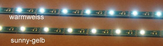 LED Leiste sunnygelb L=290mm mit 12 LEDs, Anschluss an 12-20V  - ideal ab Ep.3 | günstig bestellen bei Modelleisenbahn Center  MCS Vertriebs GmbH