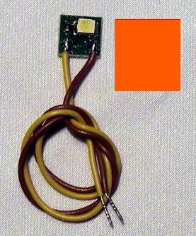 LED-Einzelbeleuchtung orange, 1 LED, Anschluss an 12-16V  | günstig bestellen bei Modelleisenbahn Center  MCS Vertriebs GmbH