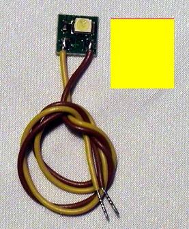 LED-Einzelbeleuchtung gelb, 1 LED, Anschluss an 12-16V  | günstig bestellen bei Modelleisenbahn Center  MCS Vertriebs GmbH