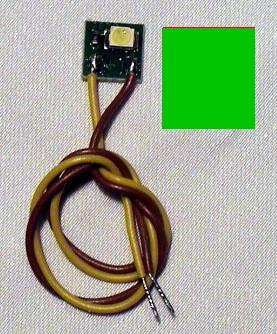 LED-Einzelbeleuchtung grün, 1 LED, Anschluss an 12-16V  | günstig bestellen bei Modelleisenbahn Center  MCS Vertriebs GmbH
