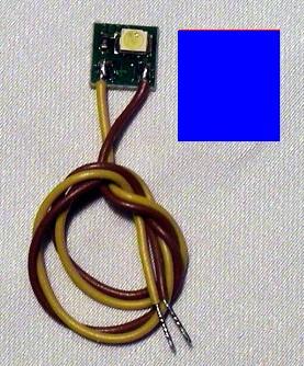 LED-Einzelbeleuchtung blau, 1 LED, Anschluss an 12-16V  | günstig bestellen bei Modelleisenbahn Center  MCS Vertriebs GmbH