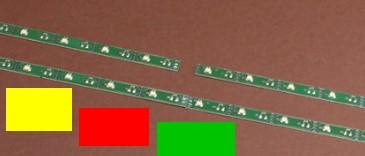 LED Leiste bunt (rot-gelb-grün), L=100mm mit 16 LEDs, Anschluss an 9-16V  | günstig bestellen bei Modelleisenbahn Center  MCS Vertriebs GmbH