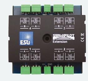 Switch Pilot Extension mit 4 Relaisausgängen, ideal für Herzstückpolarisierung – ESU  - DCC und Motorola | günstig bestellen bei Modelleisenbahn Center  MCS Vertriebs GmbH