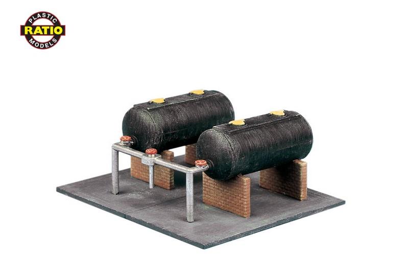 N Öllager, 2 Tanks mit Grundplatte - Peco 315    günstig bestellen bei Modelleisenbahn Center  MCS Vertriebs GmbH