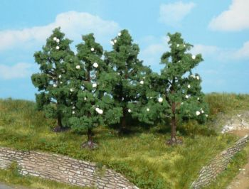 Obstbäume blühend 8cm - Heki Meisterprogramm Set mit 4 Stück | günstig bestellen bei Modelleisenbahn Center  MCS Vertriebs GmbH