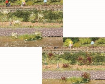 Blumenbüschel weiss und erika blühend, 5-6mm hoch, 100 Stück - Heki  | günstig bestellen bei Modelleisenbahn Center  MCS Vertriebs GmbH
