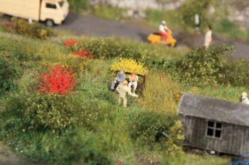 Blumenbüschel gelb und rot blühend, 10mm hoch, 50 Stück - Heki - ideal für grosse Spurweiten | günstig bestellen bei Modelleisenbahn Center  MCS Vertriebs GmbH