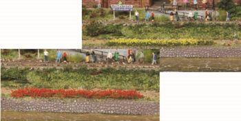 Blumenstreifen gelb und rot blühend, 5-6mm hoch, 10 Stück - Heki - je 100mm lang | günstig bestellen bei Modelleisenbahn Center  MCS Vertriebs GmbH