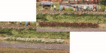 Blumenstreifen weiss und erika blühend, 5-6mm hoch, 10 Stück - Heki - je 100mm lang | günstig bestellen bei Modelleisenbahn Center  MCS Vertriebs GmbH