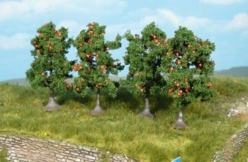 Apfelbäume 7 cm, 5 Stück - Heki Super Artline  | günstig bestellen bei Modelleisenbahn Center  MCS Vertriebs GmbH