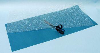 Modellwasser, Folie 80 x 35cm - Heki klar mit blauem Untergrundpapier | günstig bestellen bei Modelleisenbahn Center  MCS Vertriebs GmbH